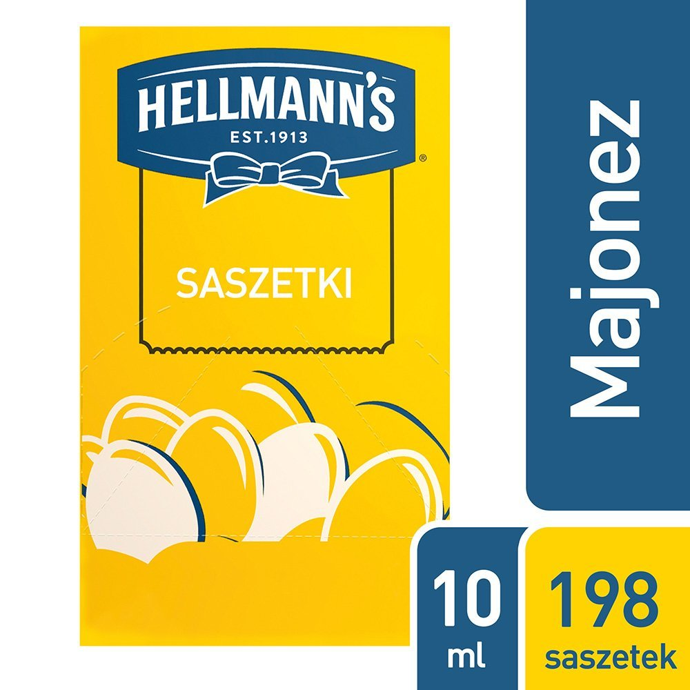 Hellmann's Majonez w saszetkach 10 ml x 198 saszetek -
