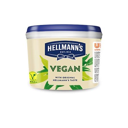 Hellmann's Majonez Wegański 2,5 kg - Idealny dodatek do dań wegetariańskich oraz wegańskich.