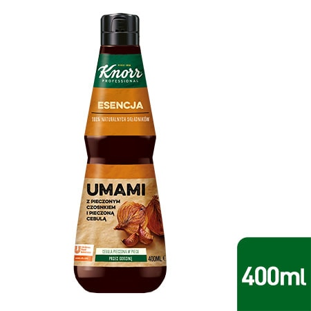 Esencja Umami Knorr Professional 0,4 l - Wykonana z naturalnych składników takich jak pieczona cebula i czosnek.