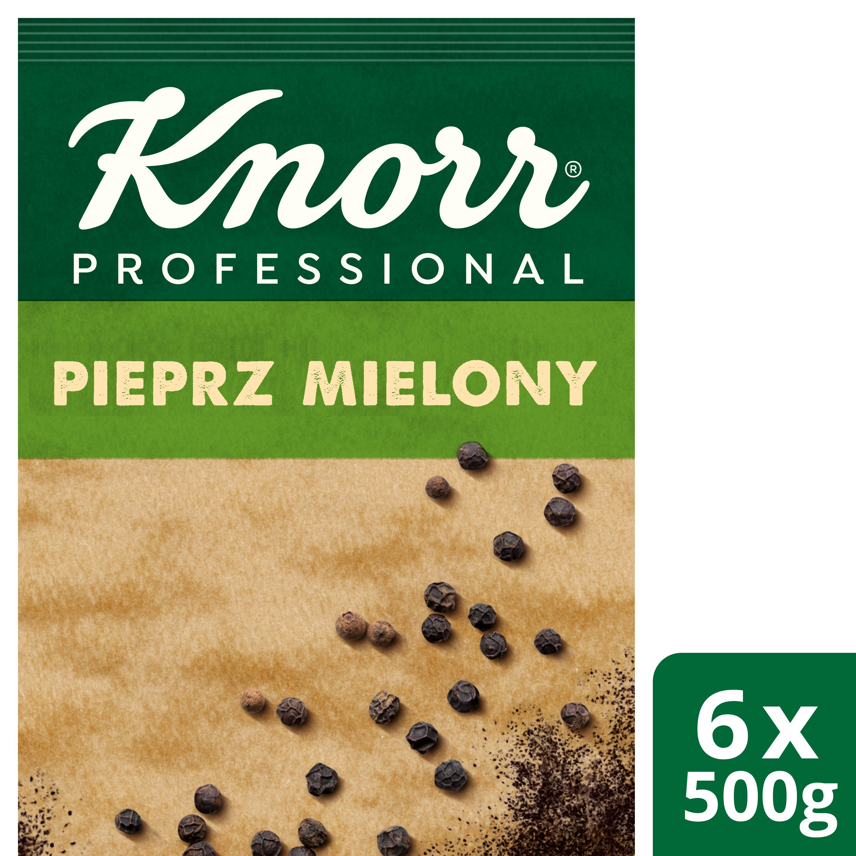 Pieprz czarny mielony z Wietnamu Knorr Professional 0,5 kg -