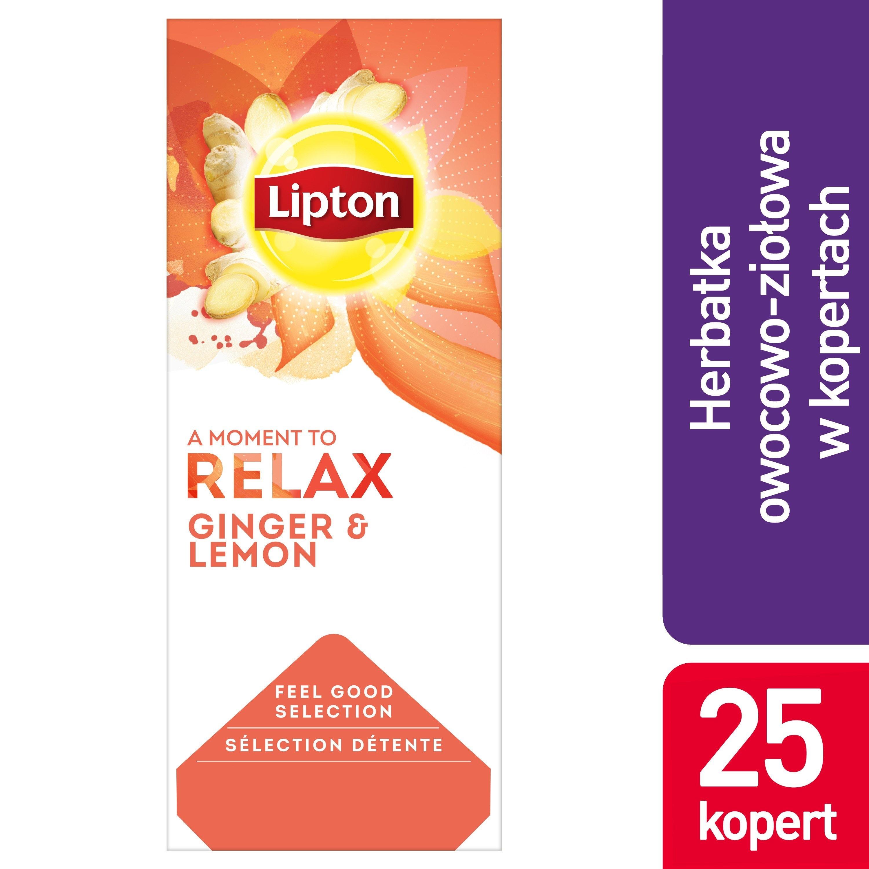 Lipton Classic Ginger Lemon (imbir i cytryna) 25 kopert -