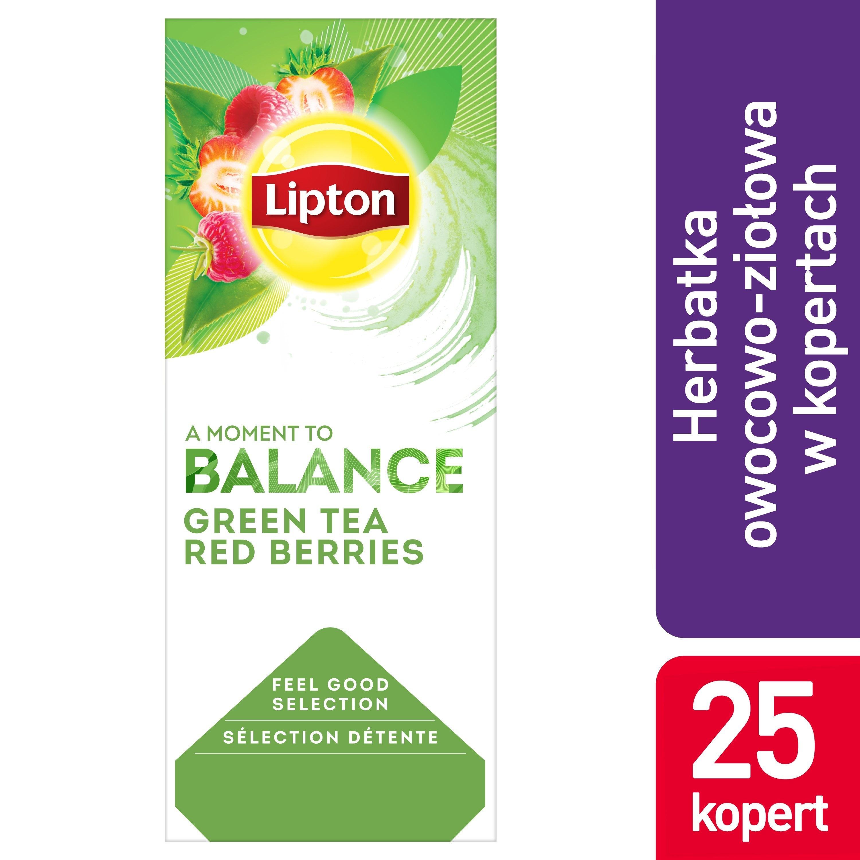 Lipton Classic Green Tea Berries (Zielona herbata z delikatną nutą truskawki i maliny) 25 kopert -