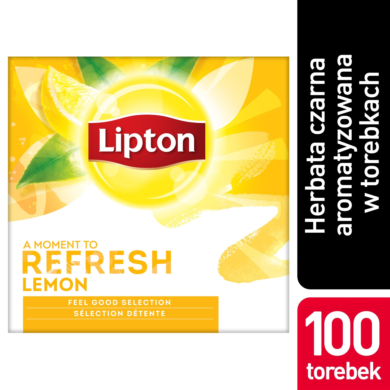 Lipton Classic Lemon (Czarna herbata z orzeźwiającą nutą skórki cytrynowej) 100 kopert -