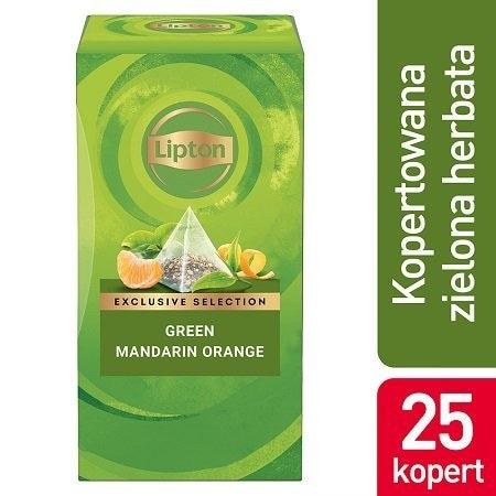 Lipton Green Tea Mandarin Orange (Herbata zielona o smaku mandarynki i pomarańczy) 25 kopert -