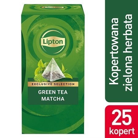 Lipton Piramida Green Tea Matcha (Zielona Herbata) 25 kopert -