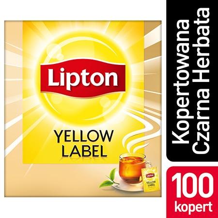Lipton Yellow Label Czarna Herbata 100 kopert - Lipton Yellow Label zapewnia perfekcyjny sposób podania herbaty.