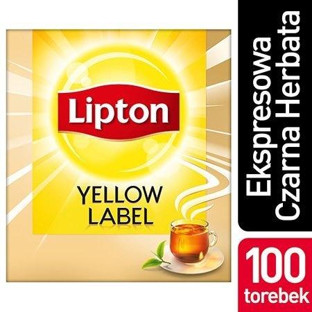 Lipton Yellow Label Czarna Herbata 100 torebek ekspresowych -