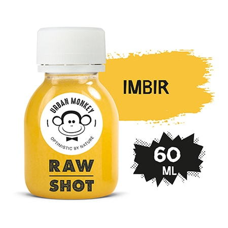Urban Monkey Raw Shot IMBIR 60 ml - Odkryj portfolio Urban Monkey!