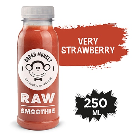 Urban Monkey Raw Smoothie Very Strawberry 250 ml - Odkryj portfolio Urban Monkey!
