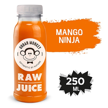 Urban Monkey Raw Sok Mango Ninja 250 ml - Odkryj portfolio Urban Monkey!