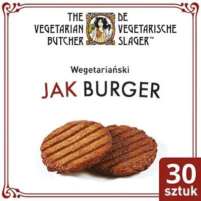 The Vegetarian Butcher Jak Burger (No Beef Burger) 2,4 kg - Wyroby oparte na produktach roślinnych, bazujące na smaku i teksturze mięsa zwierzęcego.