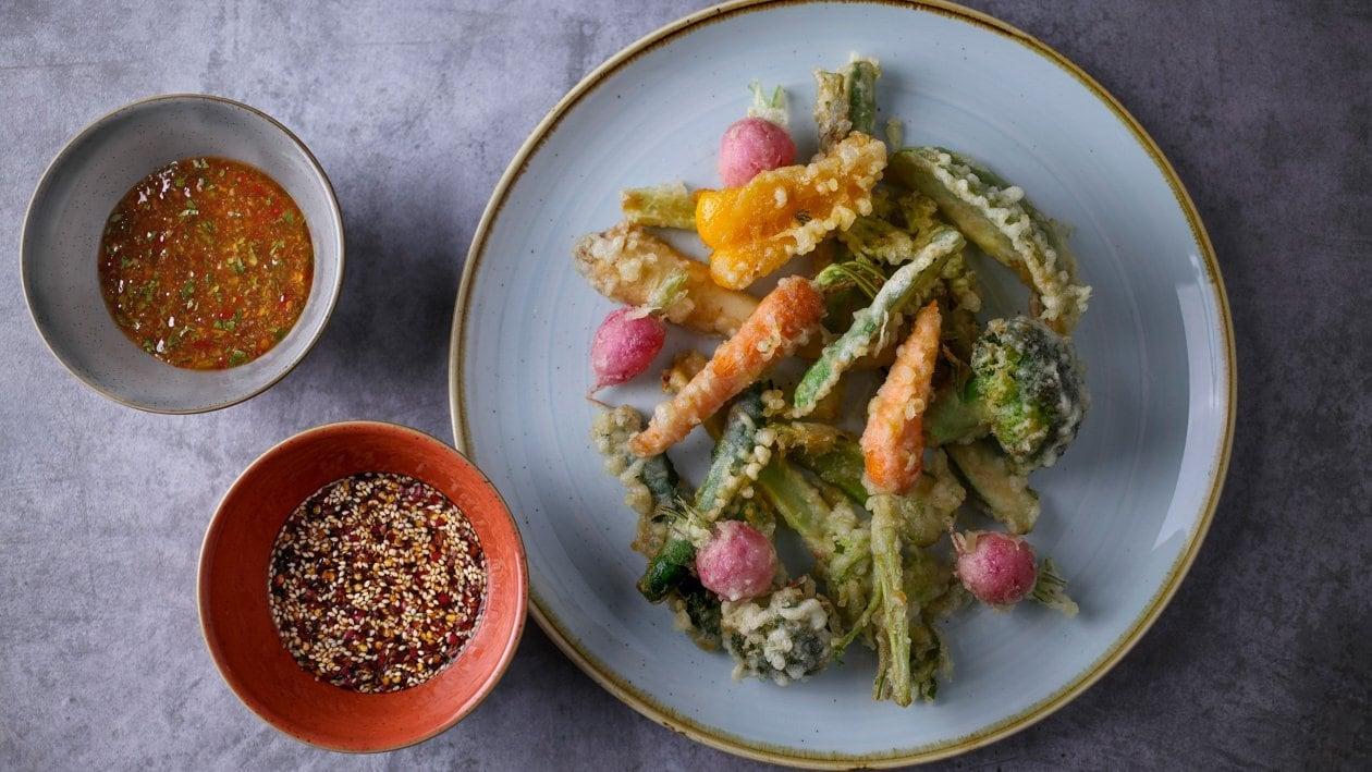 Chrupiące warzywa w tempurze